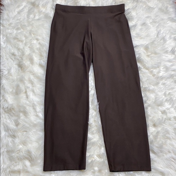 Eileen Fisher Pants - Eileen Fisher Peat Washable Crepe Straight Pant